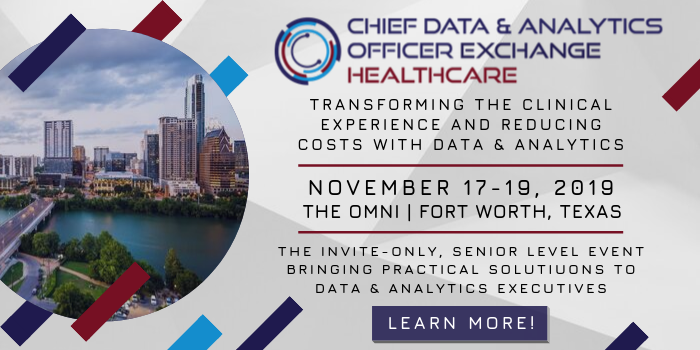 Chief Data & Analytics Officer Exchange for Healthcare